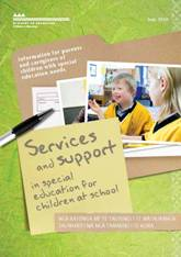 Services and support in special education for children at school