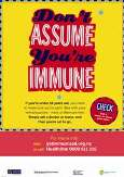 "Thumbnail image of poster ""Don't assume you're immune"""