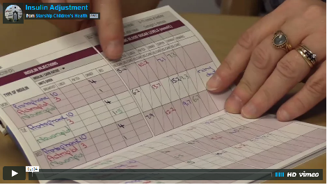 Thumbnail image of a video still showing a log book of insulin injections