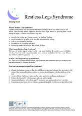 Thumbnail of 'Restlress Legs Syndrome' handout