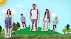 Thumbnail image of SPARX video showing cutout figures of 5 young people
