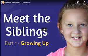 Screenshot of KidsHealth website - living with a brother or sister with a disability