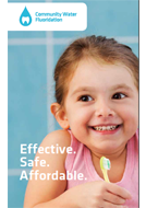 Cover of leaflet on community water fluoridation