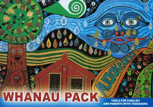 "Image of the cover of ""Whanau pack"" booklet"