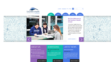 Southern Health School website